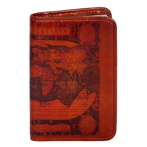 Scully Western Planner Old Atlas Print Leather Notebook - One Size