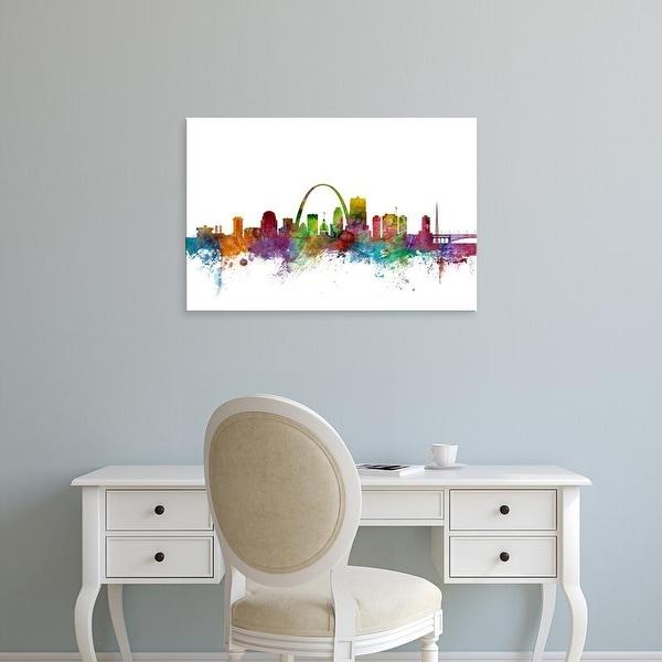 Easy Art Prints Michael Tompsett's 'St Louis Missouri Skyline' Premium Canvas Art