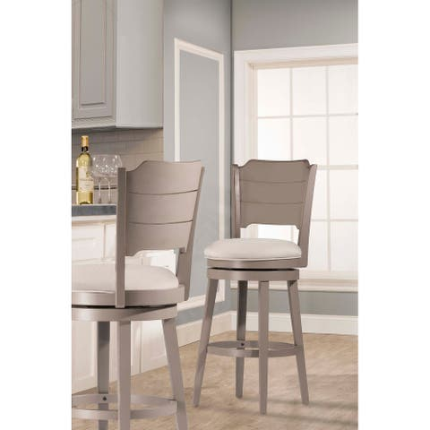 """Hillsdale Furniture Clarion Swivel Counter Stool - 41.25""""H X 17.5""""W X 21""""D"""