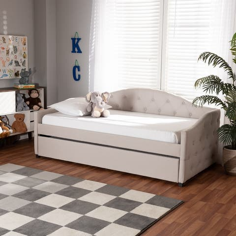 Becker Modern and Contemporary Transitional Daybed with Trundle