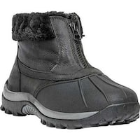 Propet Women's Blizzard Ankle Zip II Boot Black Leather/Nylon
