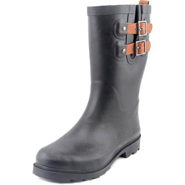 Chooka Top Solid Women Round Toe Synthetic Black Rain Boot