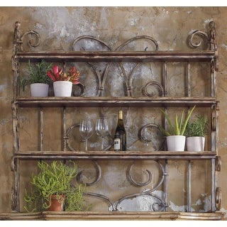 """Hooker Furniture 5004-75905  52-1/2"""" Wide Hardwood Shelving Unit from the Wakefield Collection - Distressed Taupe White"""