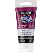 Americana Premium Acrylic Paint Tube 2.5Oz-Quinacridone Magenta