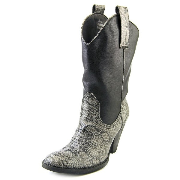 Spite Rattler Women Round Toe Synthetic Black Western Boot