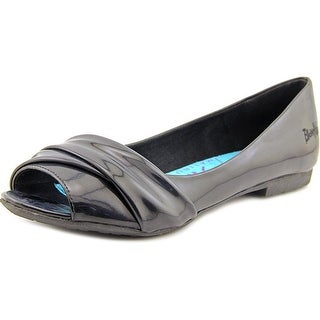 Blowfish Rale Women Open-Toe Patent Leather Black Flats
