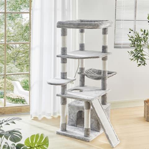TiramisuBest 55.9 Inches Multi Level Cat Tower