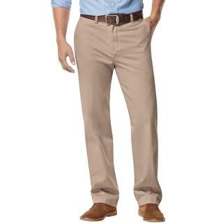 Nautica Big and Tall Mens Flat Front Chinos Pants True Khaki 42 x 34