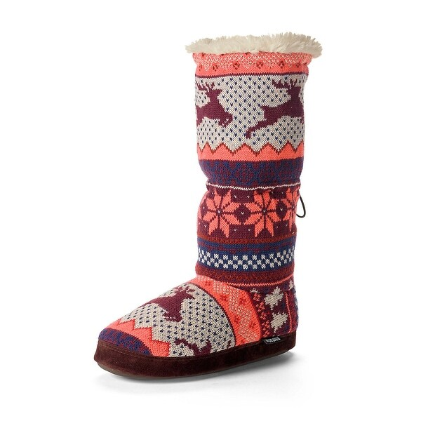 Legendary Whitetails Ladies Leaping Deer Nordic Knit Muk Luks - winter heather