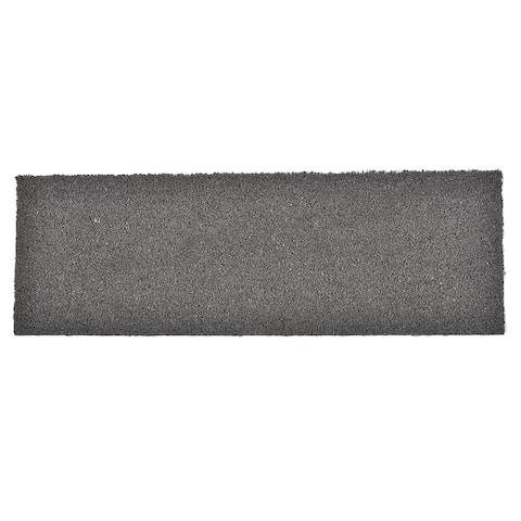 Sheltered Grey Coir Coco Fibers Long Front Door Mat Rug 30x10