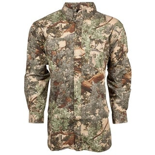 King's Camo Button Up Classic Cotton Long Sleeve Shirt Desert Shadow - Camouflage