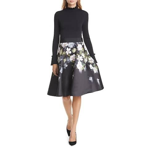 Ted Baker Nerida Womens Opal Dress Black Floral
