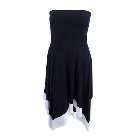 INC Women's Petite Handkerchief-Hem Convertible Skirt (PXL, Colorblock) - Colorblock - PXL