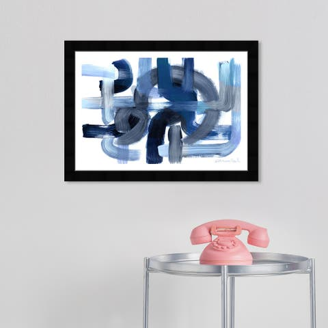 Wynwood Studio 'More Than Hope' Abstract Blue Wall Art Framed Print