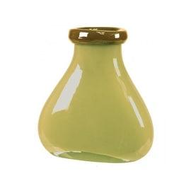 "CYS XO Brandy Bottle Vase Cream, H-6.5"" Open-3.5"" x 3.5"""