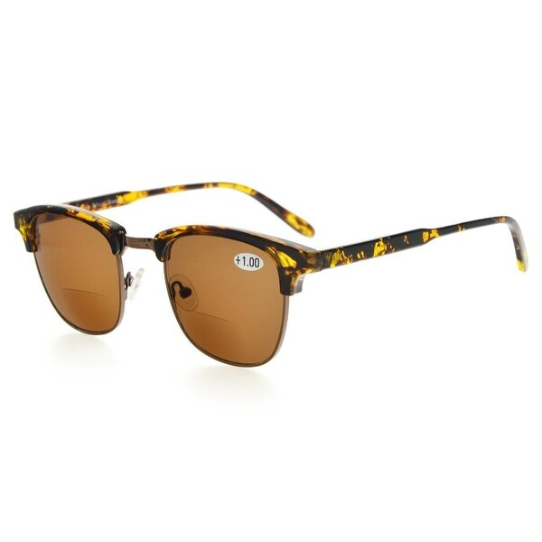 Eyekepper Womens Bifocal Sunglasses Semi-Rimless Brown Lens +1.75