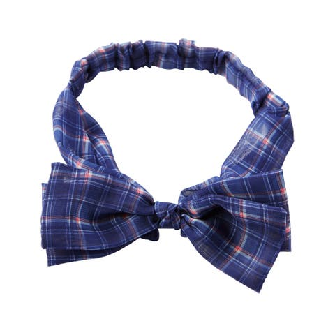 OshKosh B'gosh Baby Girls' Plaid Bow Headwrap, One Size - One Size