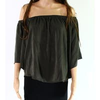 Standard Olive Womens Small Off Shoulder Knit Top