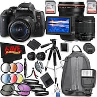 Canon EOS Rebel T6i DSLR Camera with 18-55mm Lens (Intl Model) and Canon EF 135mm f/2L USM Lens