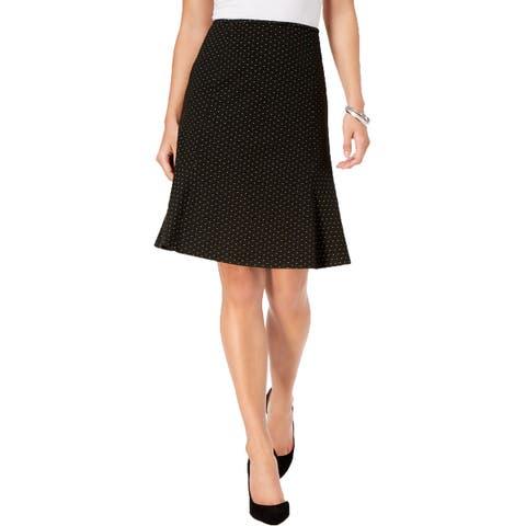 Nine West Flare Hem Skirt Black
