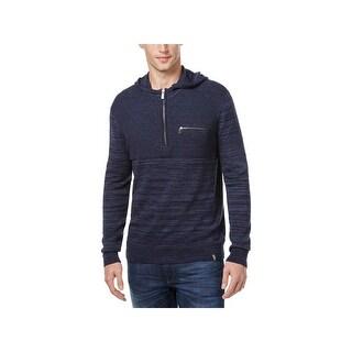 Calvin Klein Mens Hooded Sweater Marled Long Sleeves