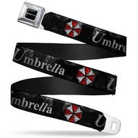 Resident Evil Full Color Black White Resident Evil Umbrella Weathered Black Seatbelt Belt