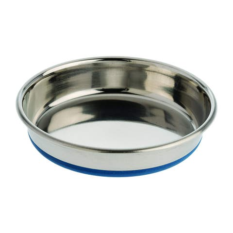 Our Pets Durapet Premium Rubber-Bonded Stainless Steel Dish - Silver