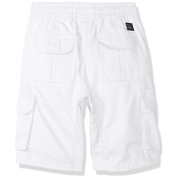 Southpole Boys Twill Cargo Jogger Shorts in Basic Solid Colors