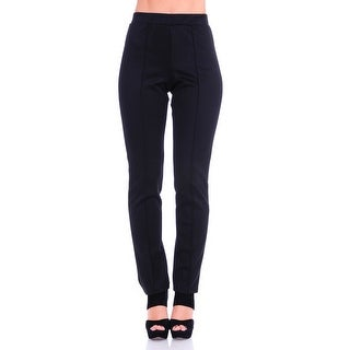 Simply Ravishing Women's Solid Stretch Straight Leg Slim Fit Pants (Option: 1x)