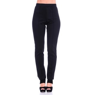 Simply Ravishing Women's Solid Stretch Straight Leg Slim Fit Pants