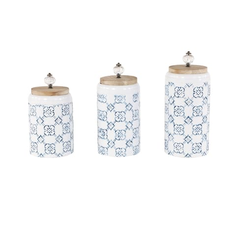 Iron Farmhouse Decorative Jar (Set of 3) - 5 x 5 x 12