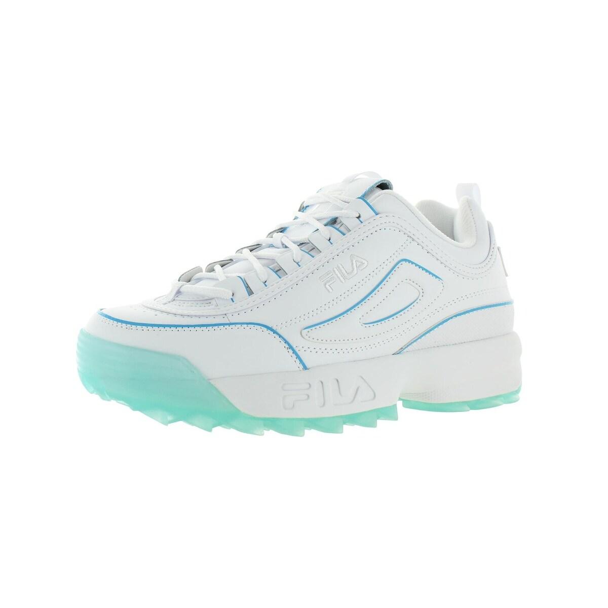 Fila Womens Disruptor II ICE Fashion Sneakers Leather Low Top
