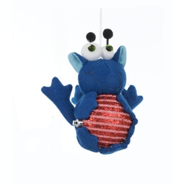 "7"" Ugly Cuties ""Buster"" the Blue Guy Plush Animal Christmas Ornament"