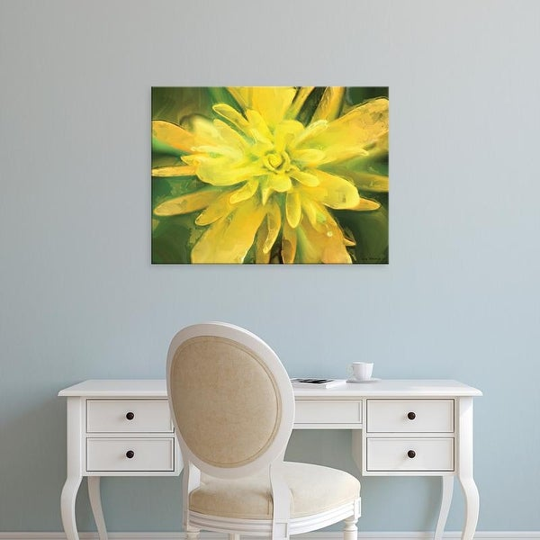 Easy Art Prints Lola Henry's 'Painterly Flower VII' Premium Canvas Art