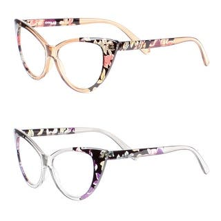 Womens Cat Eye Reading Glasses, 2 Pairs - 1 brown, 1 gray|https://ak1.ostkcdn.com/images/products/is/images/direct/5c4f55ca92f32aedb91f165a62846d2ca7e1149e/Womens-Cat-Eye-Reading-Glasses%2C-2-Pairs.jpg?impolicy=medium