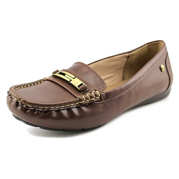 Life Stride Viva Women W Round Toe Leather Brown Loafer