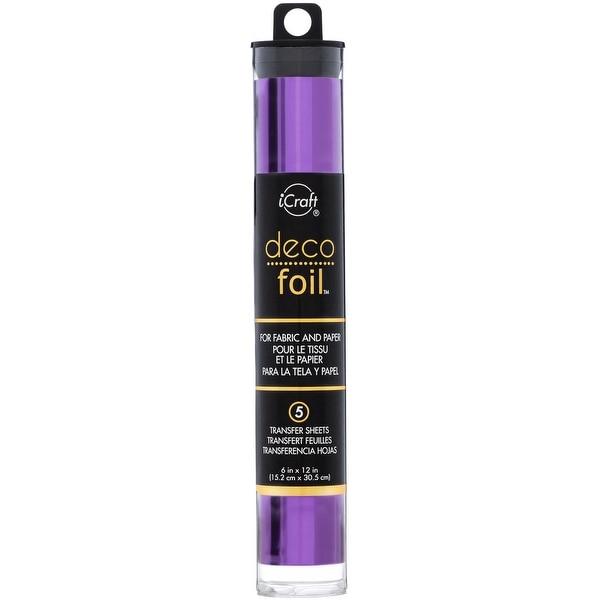 """Deco Foil Transfer Sheets 6""""X12"""" 5/Pkg-Purple - Purple"""