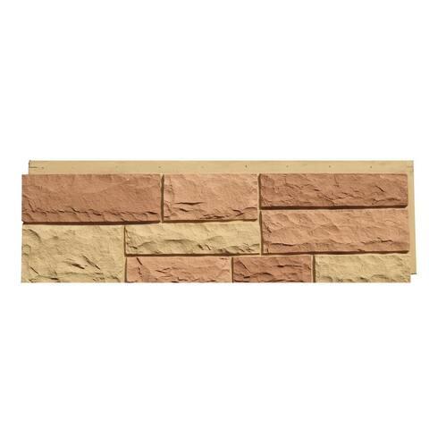 NextStone Polyurethane Faux Stone Random Rock Panel - Tri Sedona Red