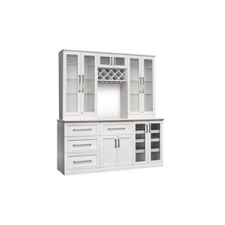 "NewAge Products Home Bar White 72"" W x 25""D 7 PC Shaker Style"