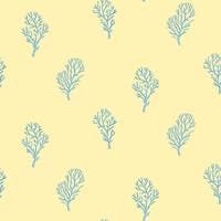 Brewster DLR54663 Islamorada Yellow Coral Branch Wallpaper - yellow coral branch