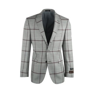 Link to Sangria Cream and Black Houndstooth with Brown Windowpane Pure Wool Jacket Jacket by Tiglio Luxe Similar Items in Sportcoats & Blazers
