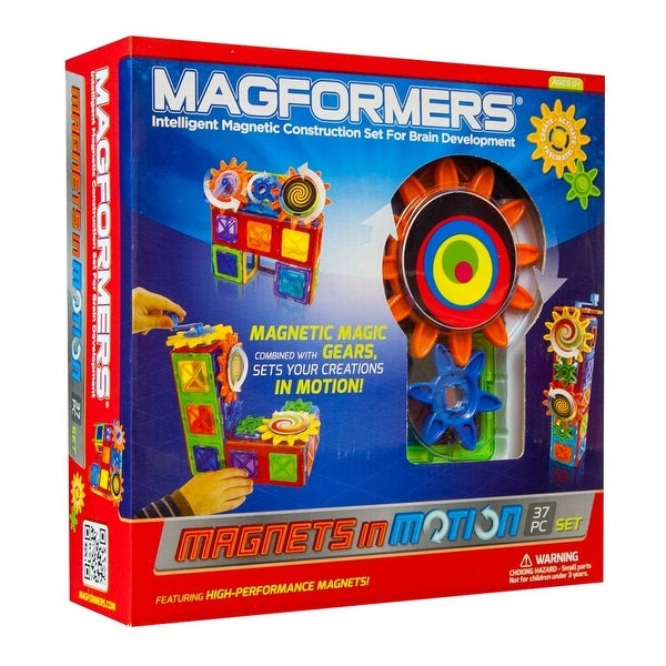 Magformers Magnets in Motion 37-Piece Gear Set - Multi