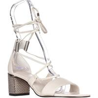Calvin Klein Womens Natania Leather Open Toe Casual Strappy Sandals