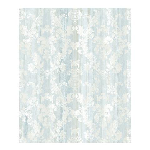 Camilia Light Blue Damask Wallpaper - 21 x 396 x 0.025