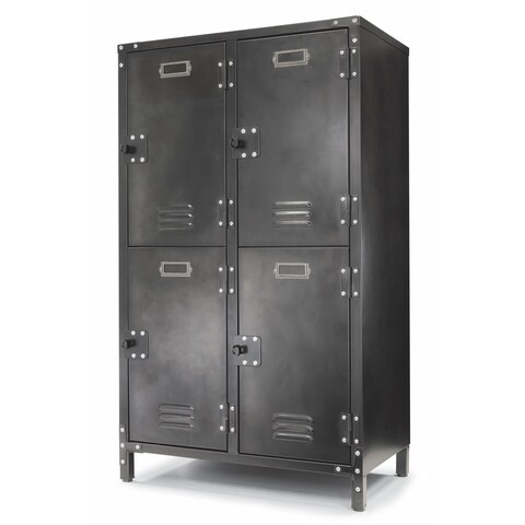 Allspace 4 Door Locker w/ Dark Weathered Finish SCRATCH & DENT DEAL - 240122