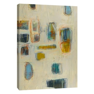 """PTM Images 9-105424  PTM Canvas Collection 10"""" x 8"""" - """"Block Party 6"""" Giclee Abstract Art Print on Canvas"""