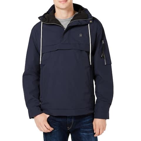 G-Star Raw Mens Jacket Navy Blue Size Medium M Anorak Drawstring