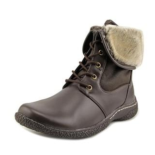 Wanderlust Danette Women Round Toe Leather Brown Winter Boot