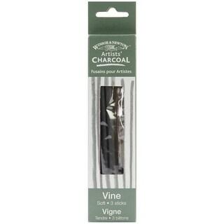 Winsor & Newton Artists' Vine Charcoal 3/Pkg-Soft