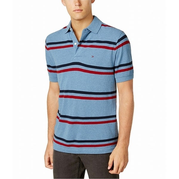 206c711fe Shop Tommy Hilfiger Mens Classic-Fit Striped Polo Shirt - Free Shipping On  Orders Over $45 - Overstock - 27010218